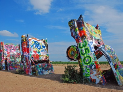 350.org Cadillac Ranch
