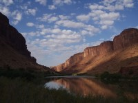Colorado River - Sunrise at Drinks Canyon Campground near Moab, Utah