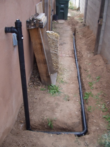 Grey Water Drain Pipe with Cleanout