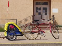 Schwinn Speedster with Bike Trailer