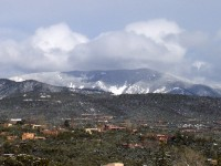 The Sangre de Cristo Mountains after a Spring snow storm