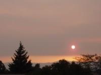 Wallow Fire Smoke at Sunset